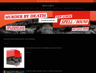murderbydeath.com screenshot