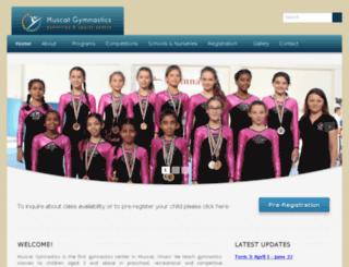 muscatgymnastics.com screenshot