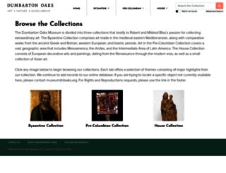museum.doaks.org screenshot