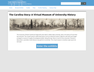 museum.unc.edu screenshot