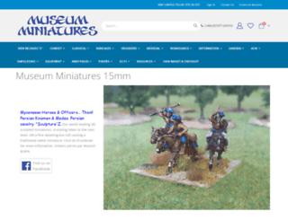 museumminiatures.co.uk screenshot