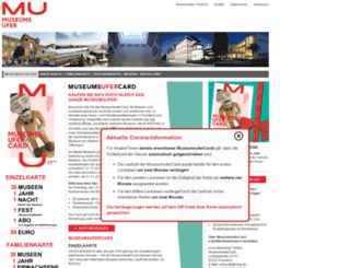 museumsufercard.de screenshot
