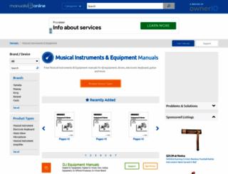 music.manualsonline.com screenshot