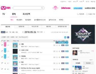 music.mnet.com screenshot