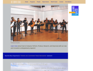 music.ucsc.edu screenshot