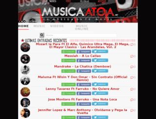 musicaatoa.com screenshot