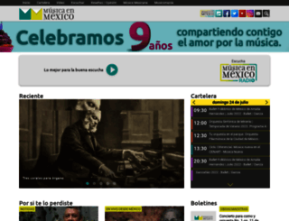 musicaenmexico.com.mx screenshot