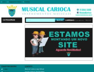 musicalcarioca.com.br screenshot