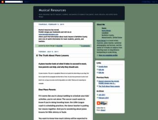 musicalresources.blogspot.com screenshot