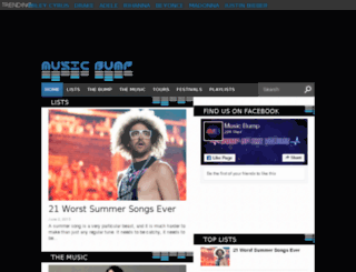 musicbump.com screenshot