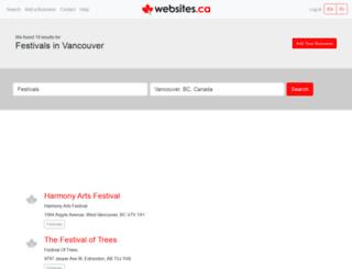 musicfestvancouver.ca screenshot