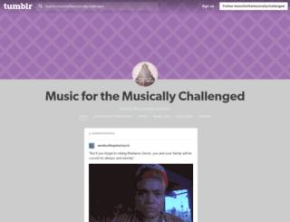 musicforthemusicallychallenged.tumblr.com screenshot