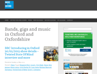 musicinoxford.co.uk screenshot