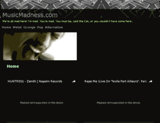 musicmadness.com screenshot