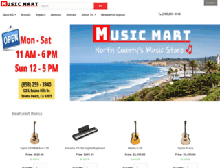 musicmartonline.com screenshot