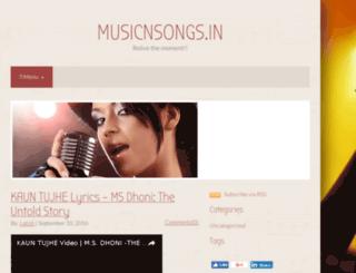 musicnsongs.in screenshot