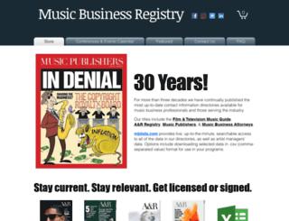 musicregistry.com screenshot