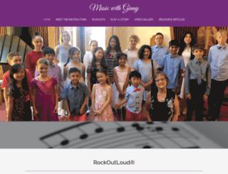musicwithginny.com screenshot