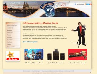 musiker-koeln.de screenshot