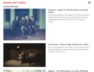 musikmitherz.de screenshot