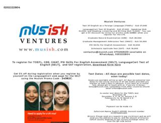 musish.com screenshot