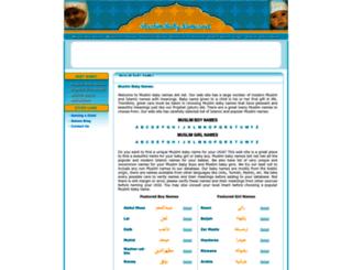 muslimbabynames.net screenshot