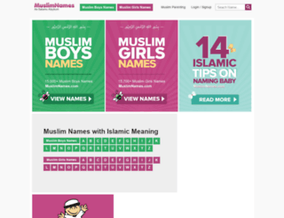 muslimnames.info screenshot