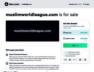 muslimworldleague.com screenshot