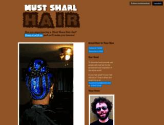mustsharehair.tumblr.com screenshot