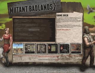 mutantbadlands.com screenshot