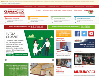 mutuacesarepozzo.org screenshot