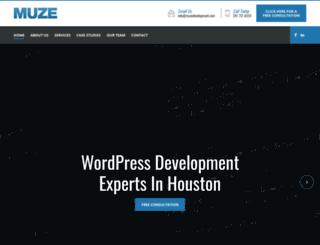 muzedevelopment.com screenshot