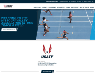 mv.usatf.org screenshot