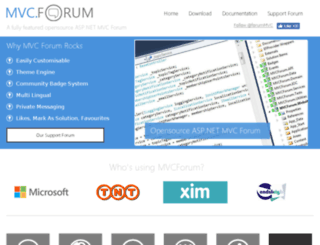 mvcforum.com screenshot