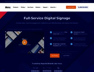 mvixdigitalsignage.com screenshot