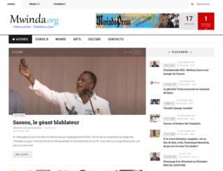 mwinda.org screenshot