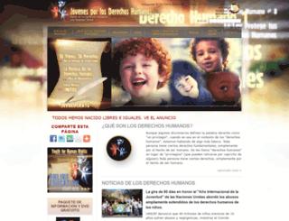 mx.youthforhumanrights.org screenshot