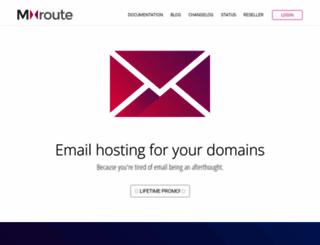 mxroute.com screenshot