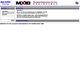 mxwi01.macronix.com screenshot