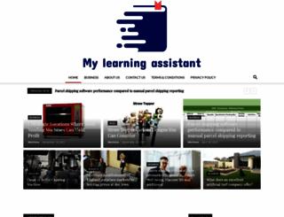 my-learning-assistant.com screenshot
