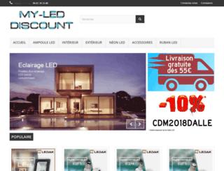 my-led-discount.fr screenshot