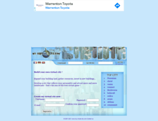 my-virtual-city.com screenshot