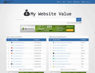 my-website-value.com screenshot