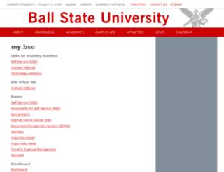 my.bsu.edu screenshot