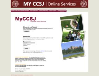 my.ccsj.edu screenshot