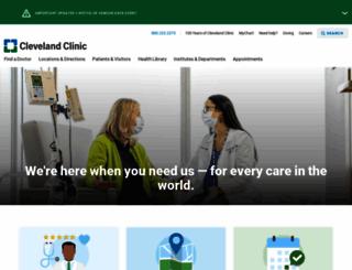 my.clevelandclinic.org screenshot