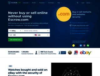 my.escrow.com screenshot