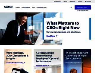 my.gartner.com screenshot