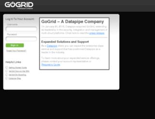 my.gogrid.com screenshot