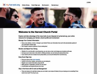 my.harvest.org screenshot